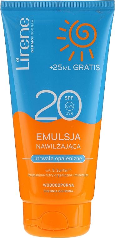 Waterproof Moisturizing Tan Emulsion - Lirene Sun Care Emulsion SPF20