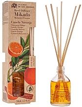 Fragrances, Perfumes, Cosmetics Cinnamon & Orange Reed Diffuser - La Casa de los Aromas Mikado Botanical Reed Diffuser Cinnamon Orange