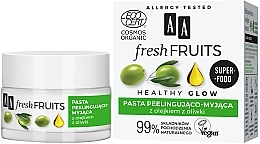 Fragrances, Perfumes, Cosmetics Olive Oil Peeling Paste for Face - AA Fresh Fruits Healthy Glow