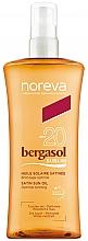 Fragrances, Perfumes, Cosmetics Body Sun Oil - Noreva Laboratoires Bergasol Sublim Satiny Sun Oil SPF20