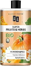 "Fragrances, Perfumes, Cosmetics Bubble Bath ""Pumpkin and Jasmine"" - AA Super Fruits & Herbs"