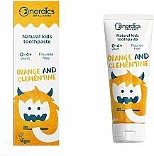 "Fragrances, Perfumes, Cosmetics Kids Toothpaste ""Orange Clementine"" - Nordics Kids Orange Clementine Toothpaste"