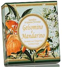 "Fragrances, Perfumes, Cosmetics Natural Soap ""Jasmine & Tangerine"" - Saponificio Artigianale Fiorentino Jasmine & Tangerine Soap"