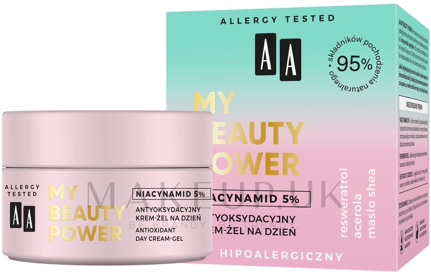 Antioxidant Day Face Cream-Gel - AA My Beauty Power Niacynamid 5% Antioxidant Day Cream-Gel — photo 50 ml