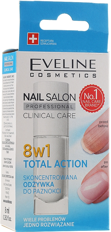 Nail Repairer 8in1 - Eveline Cosmetics Nail Salon Clinical Care 8 in 1