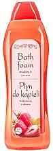 """Fragrances, Perfumes, Cosmetics Bubble Bath """"Strawberry & Aloe Vera"""" - Bluxcosmetics Naturaphy Strawberry & Aloe Vera Bath Foam"""