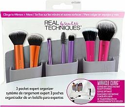 "Fragrances, Perfumes, Cosmetics Brush Organizer ""Grey"" - Real Techniques 3 Pocket Expert Organizer Grey"