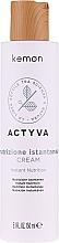 Fragrances, Perfumes, Cosmetics Leave-In Dry Hair Cream - Kemon Actyva Nutrizione Istantanea Cream