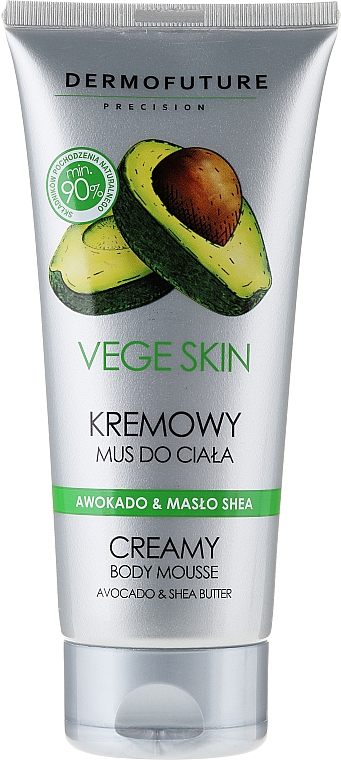 """Creamy Body Mousse """"Avocado and Shea Butter"""" - DermoFuture Vege Skin Creamy Body Mousse Avocado & Shea Butter"""