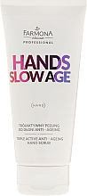 Fragrances, Perfumes, Cosmetics Hand Scrub - Farmona Hands Slow Age Triple Active Anti-ageing Hand Scrub