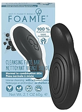 Fragrances, Perfumes, Cosmetics Charcoal Face Soap - Foamie Charcoal Face Bar For Normal To Combination Skin
