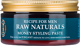 Fragrances, Perfumes, Cosmetics Hair Paste - Recipe For Men RAW Naturals Money Styling Paste