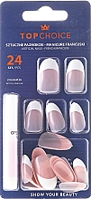 """Fragrances, Perfumes, Cosmetics Fake Nails """"FRENCH MANICURE"""", 74165 - Top Choice"""