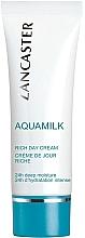 Fragrances, Perfumes, Cosmetics Nourishing Face Cream - Lancaster Aquamilk Rich Day Cream Riche