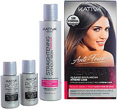 Fragrances, Perfumes, Cosmetics Set - Kativa Anti-Frizz Straightening Without Iron Xtreme Care (mask/150ml + shm/30ml + cond/30ml)