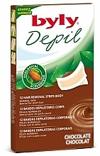 """Fragrances, Perfumes, Cosmetics Body Depilation Wax Strips """"Chocolate"""" - Byly Depil Chocolate Hair Removal Strips Body"""