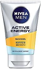 "Fragrances, Perfumes, Cosmetics Cleansing Gel ""Active Energy"" - Nivea Men Active Energy Caffeine Face Wash Gel"