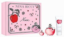 Fragrances, Perfumes, Cosmetics Nina Ricci Nina - Set (edt/50ml + b/lot/75ml + edt/4ml)