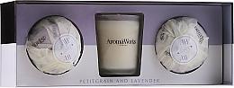 Fragrances, Perfumes, Cosmetics Set - AromaWorks Light Range Petitgrain & Lavender & Mini Aromabomb Gift Set (candle/10ml + 2xbomb/175g)