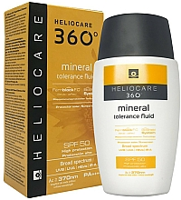 Fragrances, Perfumes, Cosmetics Mineral Fluid Cream SPF50 for Sensitive Skin - Cantabria Labs Heliocare 360º Mineral Tolerance Fluid SPF50