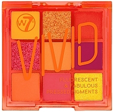 Fragrances, Perfumes, Cosmetics Eyeshadow Palette - W7 Vivid Fluorescent & Fabulous Pressed Pigments