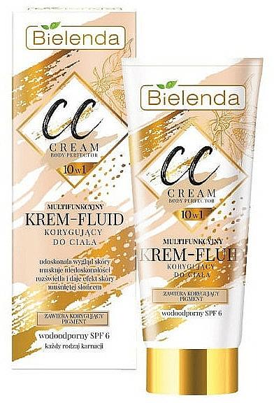 Body CC Cream-Fluid - Bielenda Magic CC 10in1 Body Correction Cream Waterproof Tanning Effect SPF6
