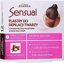 Fragrances, Perfumes, Cosmetics Depilatory Wax Face Strips with Argan Oil - Joanna Sensual Depilatory Face Strips