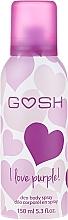 Fragrances, Perfumes, Cosmetics Deodorant Spray - Gosh I Love Purple Deo Body Spray