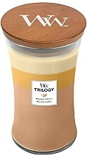 Fragrances, Perfumes, Cosmetics Scented Candle in Glass - Woodwick Hourglass Candle Trilogy Golden Treats
