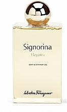 Fragrances, Perfumes, Cosmetics Salvatore Ferragamo Signorina Eleganza - Shower Gel