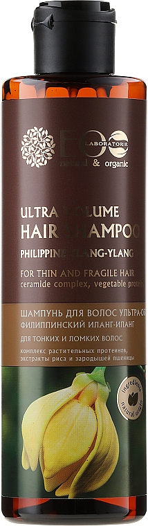 """Hair Shampoo """"Ultra-Volume for Thin and Brittle Hair"""" - ECO Laboratorie Ultra Volume Hair Shampoo"""
