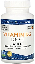 "Fragrances, Perfumes, Cosmetics Dietary Supplement with Orange Flavor ""Vitamin D3 1000"" - Nordic Naturals Vitamin D3 Orange"