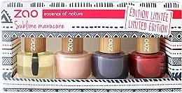Fragrances, Perfumes, Cosmetics Set - Zao Limited Edition Christmas Nail Polish Box (nail/polish/3x8ml + cuticle/oil/8ml+ nail/file)