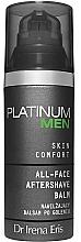 Fragrances, Perfumes, Cosmetics Moisturizing Shaving Balm - Dr Irena Eris Platinum Men Skin Comfort Aftershave Balm
