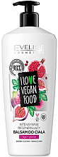"Fragrances, Perfumes, Cosmetics Body Balm ""Fig and Pomegranate"" - Eveline I Love Vegan Food Body Balm"