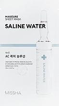 Fragrances, Perfumes, Cosmetics Moisturizing Saline Water Face Mask - Missha Mascure AC Care Solution Sheet Mask Saline Water