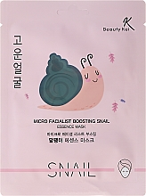 Fragrances, Perfumes, Cosmetics Face Sheet Mask - Beauty Kei Micro Facialist Boosting Snail Essence Mask