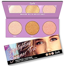 Fragrances, Perfumes, Cosmetics Highlighter Palette - Rude Cosmetics Highlighting Shimmer Trio
