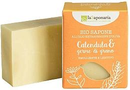 Fragrances, Perfumes, Cosmetics Calendula & Wheat GermOil Soap - La Saponaria Calendula & Wheat Germ Soap