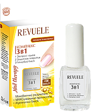 "Fragrances, Perfumes, Cosmetics 3 in 1 Nail Complex ""Drying, Coating, Shine"" - Revuele Nail Therapy"