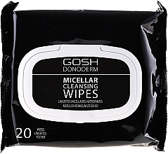 Fragrances, Perfumes, Cosmetics Micellar Makeup Remover Wipes - Gosh Donoderm Micellar Cleansing Wipes