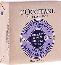 "Fragrances, Perfumes, Cosmetics Soap ""Shea-Lavender"" - L'occitane Shea Butter Extra Gentle Soap-Lavender"