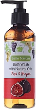 Fragrances, Perfumes, Cosmetics Shower Gel with Figs & Grapes Scent - Belle Nature Bath Wash Figs&Grapes