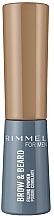 Fragrances, Perfumes, Cosmetics Brow Powder - Rimmel Men Brow & Beard Filling Powder