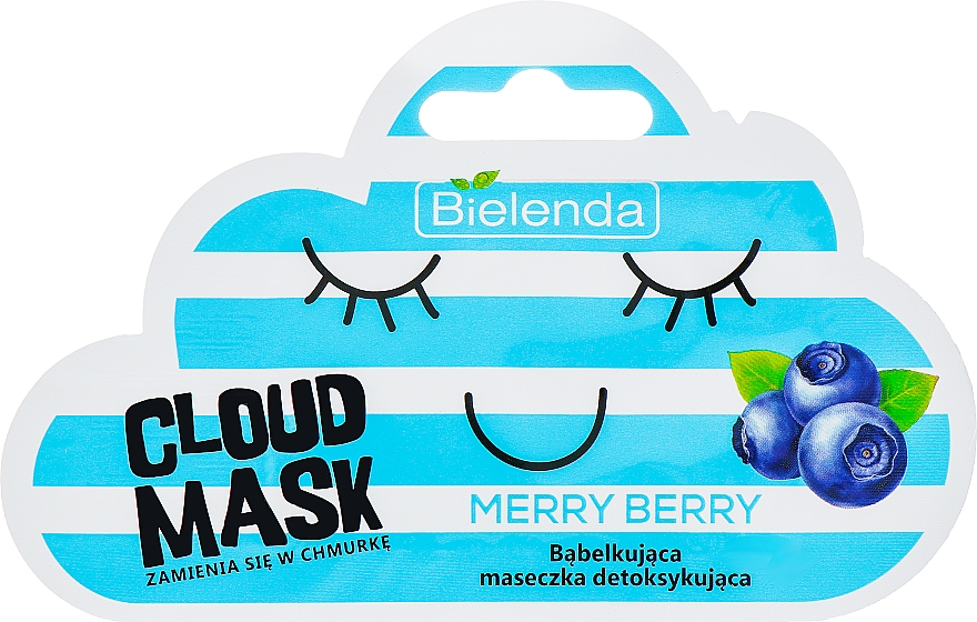 "Facial Cloud Mask ""Berries"" - Bielenda Cloud Mask Merry Berry"
