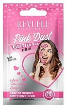 Fragrances, Perfumes, Cosmetics AHA & Q10 Peel-Off Mask  - Revuele Glitter Mask Pink Dust