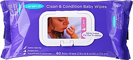 Fragrances, Perfumes, Cosmetics Wet Wipes for Breastfed Babies, 80 pcs - Lansinoh