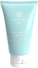 Fragrances, Perfumes, Cosmetics Foot Scrub - Alessandro International Spa One Minute Pedicure Foot Scrub