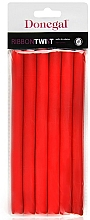 Fragrances, Perfumes, Cosmetics Hair Curlers 5004, 1,3 cm/18cm, red - Donegal Ribbon Twist