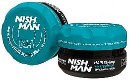 Fragrances, Perfumes, Cosmetics Hair Styling Matte Wax - Nishman Matte Finish Super High Hold Wax M4
